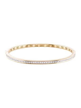 Bracelet 14K Diamond Bangle Bracelet - Bracelets - BRACE33564 | The RealReal