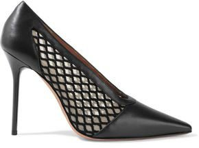 Peppino Mesh And Leather Pumps