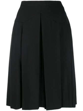 Chanel Pre-Owned 1990's Box Pleat Short Skirt - Farfetch