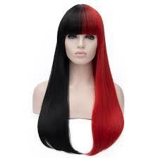 half black half red hair - Google Search