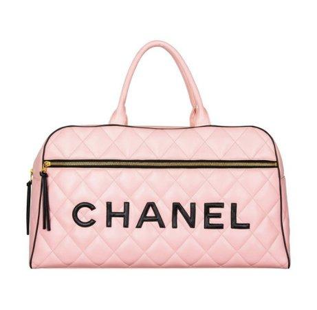 Spoiled Libra - Chanel Vinyl Quilted Jumbo Travel Logo Bag