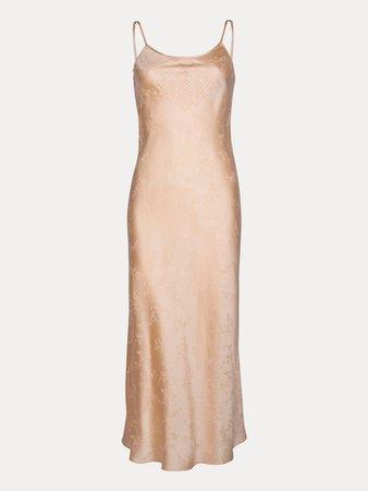 The Tia Dusty Pink Silk Slip Midi Dress | Réalisation Par