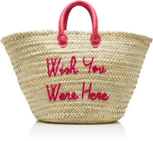 Wish You Were Here Le Shortie Straw Tote