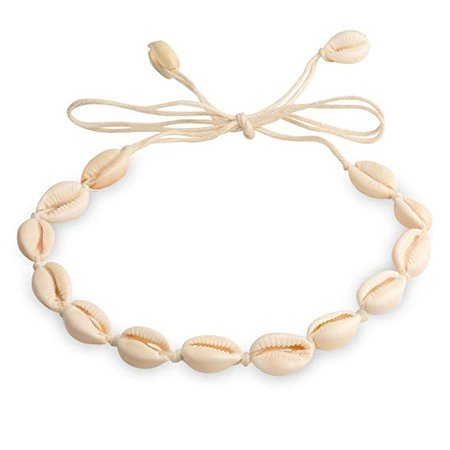Amazon.com: CrazyPiercing Shell Necklace, Cowrie Shell Choker Necklace, Natural Shell necklace for Women Girls, Summer Beach White Velvet Rope Cowrie Shell Necklace Choker, Adjustable Conch Shell Necklace Jewelry: Arts, Crafts & Sewing