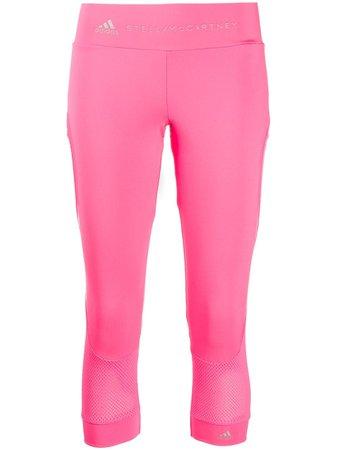 Adidas By Stella McCartney Legging Cropped Com Logo No Cós - Farfetch