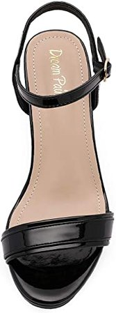 Amazon.com   DREAM PAIRS Women's Open Toe Chunky High Heels Dress Pump Heel Sandals   Heeled Sandals