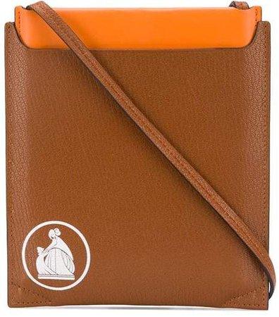 logo-stamp cross-body bag