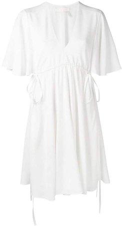 butterfly sleeve mini dress