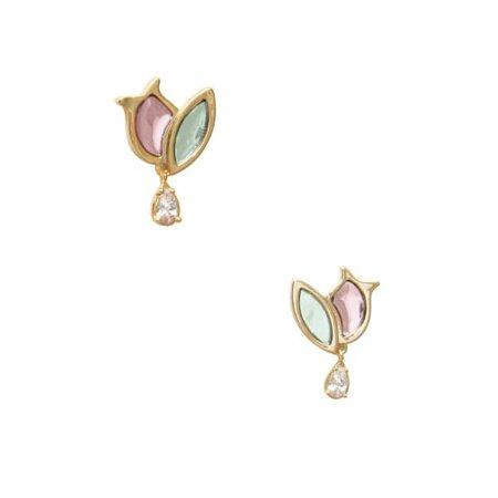 Colored Tulip Earrings | En Route Jewelry | Wolf & Badger