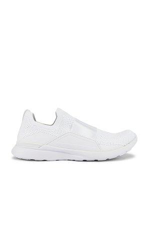 APL: Athletic Propulsion Labs TechLoom Bliss Sneaker in White & White   REVOLVE