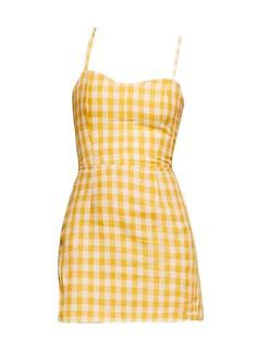 Yellow Gingham Mini Dress