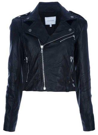 Balmain Black/Silver Hardware Pierre Biker Motorcycle Jacket Size 2 (XS) - Tradesy