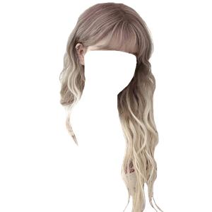 blonde hair bangs png