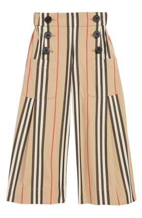 Burberry Taren Wide Leg Pants (Toddler Girls, Little Girls & Big Girls) | Nordstrom