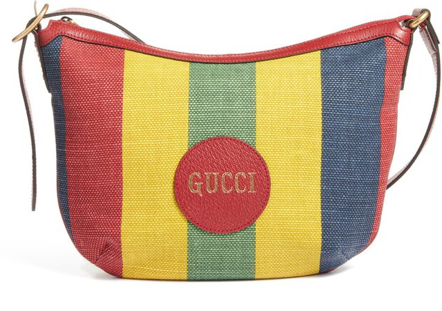 Baiadera Stripe Canvas Shoulder Bag