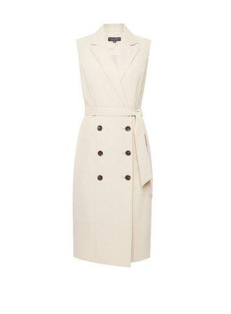 Beige Sleeveless Trench Dress | Dorothy Perkins