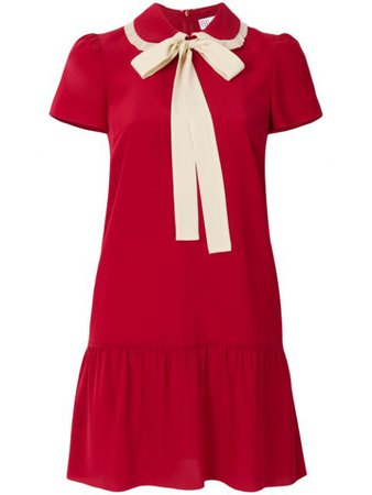 Red Valentino Pussybow Mini Dress