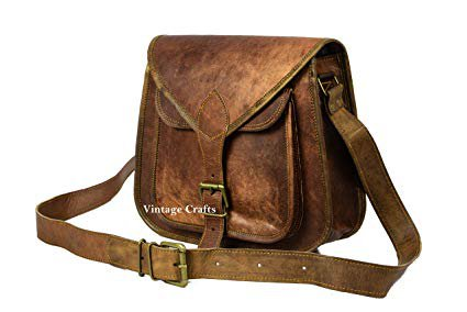 "Amazon.com: 13"" BROWN GENUINE LEATHER VINTAGE WOMEN'S PURSE BAG BOHO WESTERN HIPPY CLUTCH: Clothing"