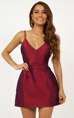 Casino Royal Dress in Wine   Showpo