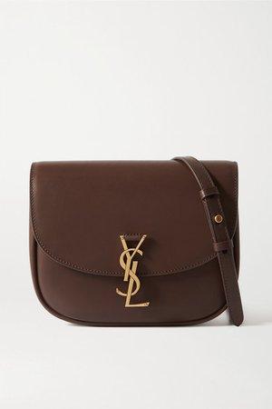 Kaia Medium Leather Shoulder Bag - Brown