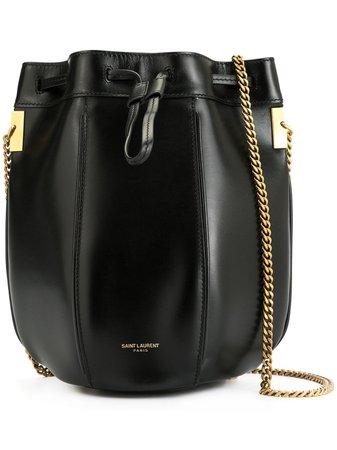Saint Laurent Small Talitha Bucket Bag 5542500SX0W Black | Farfetch