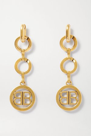 Gold Time gold-tone earrings | Balenciaga | NET-A-PORTER