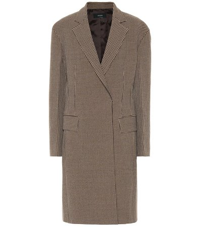 Arton checked wool-blend coat