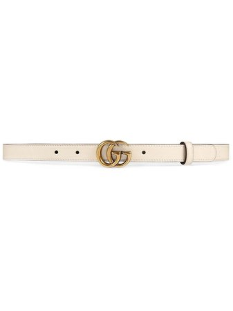 Gucci Leather Belt With Double G Buckle Ss20 | Farfetch.com
