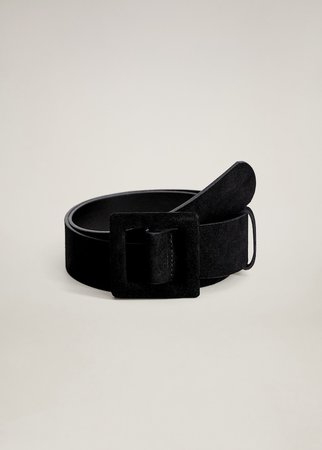 Maxi buckle leather belt - Women | Mango United Kingdom
