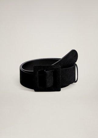 Maxi buckle leather belt - Women | Mango United Kingdom
