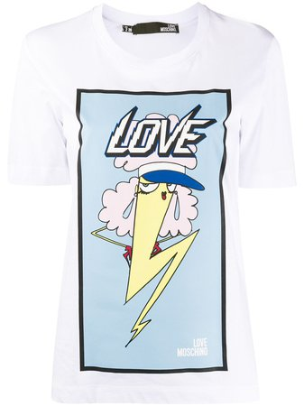 Love Moschino Graphic Print T-Shirt Ss20 | Farfetch.com