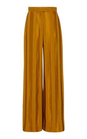 Tonal-Striped Satin Wide-Leg Trousers by Martin Grant | Moda Operandi