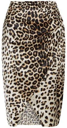 *Vesper Multi Colour Cheetah Print Skirt