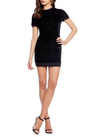 Cosmo x Dress the Population Malorie Sparkle Knit Body-Con Minidress | Nordstrom