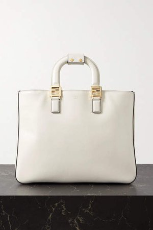 Leather Tote - White