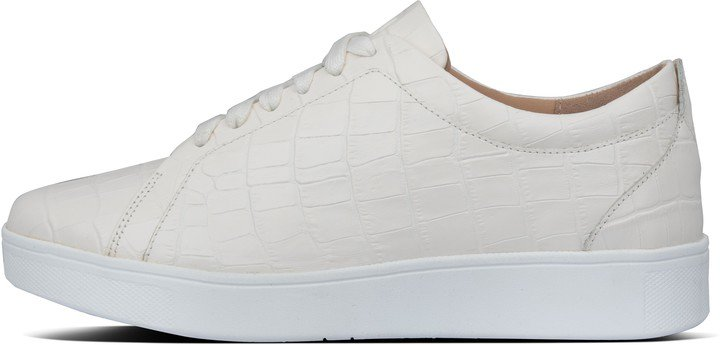 Rally Croc-Embossed Leather Sneakers