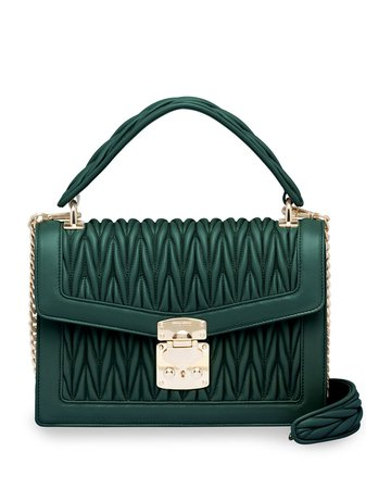 Miu Miu Matelassé Leather top-handle Bag - Farfetch