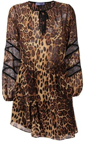 leopard print asymmetric dress