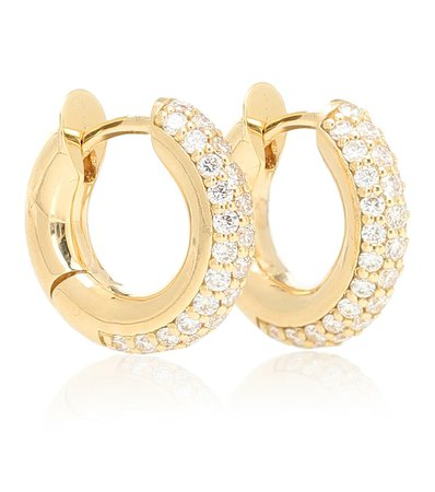 Orecchini Mini Macro Hoop In Oro Giallo 18Kt E Diamanti | Spinelli Kilcollin - Mytheresa