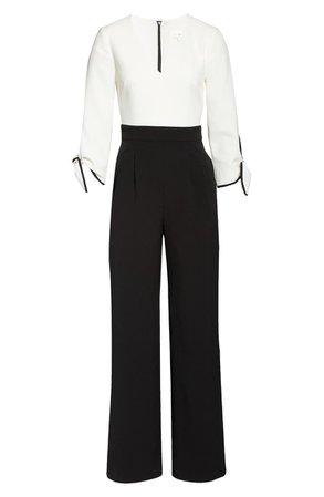 Harper Rose Colorblock Tie Sleeve Jumpsuit | Nordstrom