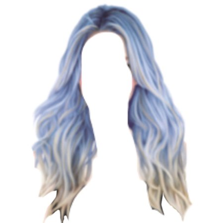 Blue Hair PNG @bittersweetofficial