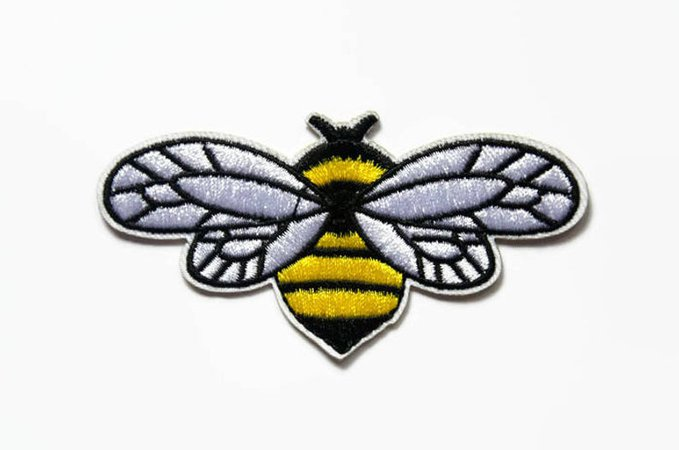 Patches Bee Patch Badge Patch Bumble Bee Applique Patches for | Etsy