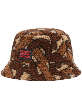 Burberry Monogram Fleece Bucket Hat Ss20 | Farfetch.com