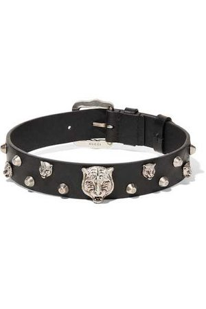 Gucci | Leather and silver-tone choker | NET-A-PORTER.COM
