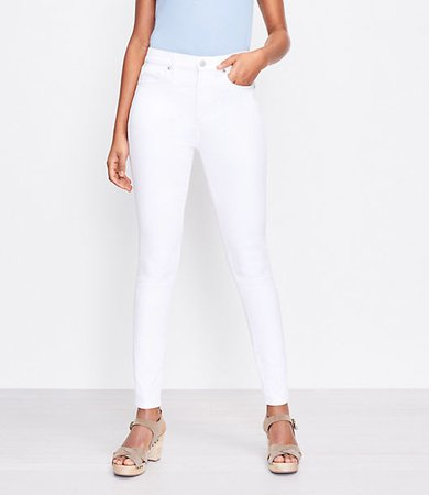 The High Waist Skinny Jean in White