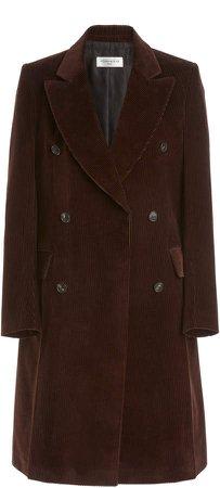 Victoria Beckham Corduroy Double-Breasted Coat