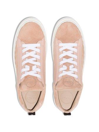 Chloé Lauren Scallop Sneakers CHC20S10818 Pink   Farfetch