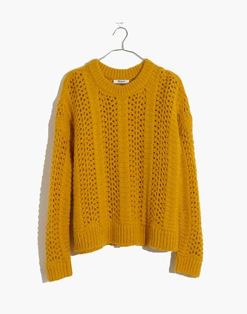 Windemere Pointelle Pullover Sweater yellow