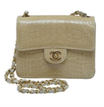 Chanel mini cream alligator skin bag