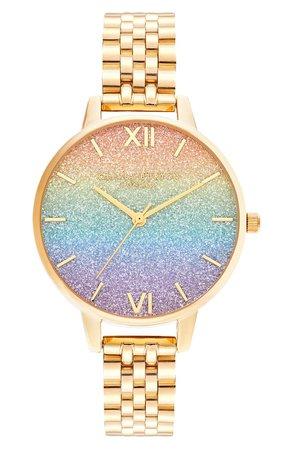Olivia Burton Rainbow Bracelet Watch, 34mm | Nordstrom